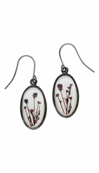 Smoketree White Oval Earrings