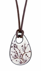 Smoketree White Teardrop on Leather