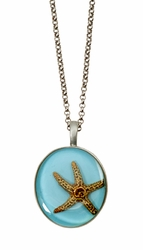 "Starfish OT Medium Round 16"" Adj. Necklace"
