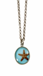 "Starfish OT Small Round 16"" Adj. Necklace"