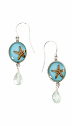 Starfish OT Small Round Earrings w/Drop