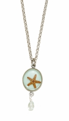 "Starfish Small Round 16"" Adj. Necklace w/Drop"