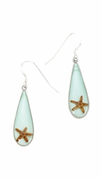 Starfish Teardrop Earrings