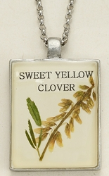 Sweet Yellow Clover Seed Pack Pendant Necklace
