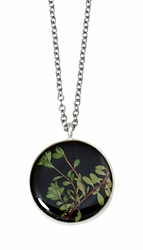 Thyme Brown Med Round Necklace