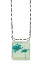 Turquoise QA Seafoam Dbl Eye Sq Necklace