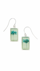 Turquoise QA Seafoam Rect Earrings