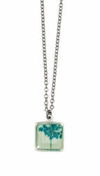 Turquoise QA Seafoam Sm Sq Necklace
