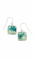 Turquoise QA Seafoam Sq Earrings