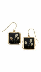 Veronica Bud Black Med Sq Earrings