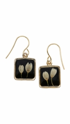Veronica Bud Black Sm Sq Earrings