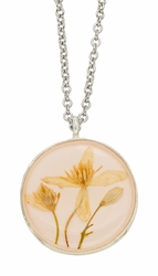 Veronica Pale Pink LG Rnd Necklace