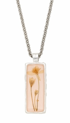 Veronica Pale Pink Rect Necklace