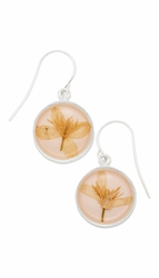 Veronica Pale Pink Rnd Earrings
