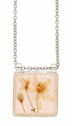 Veronica Pale Pink Sq Necklace