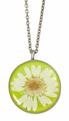 White Daisy MED Round Necklace