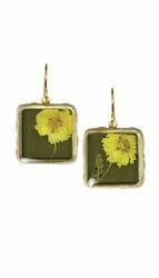 Yellow Achillea Sml Sq. Earrings