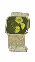 Yellow Achillea Sq. Cuff