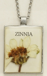 Zinnia Seed Pack Pendant Necklace