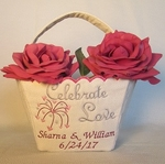 "Flower basket ""Celebrate Love"""