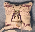 Love Bug ring pillow