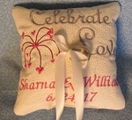 "Ring bearer pillow ""Celebrate Love"""