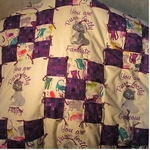 Traditional 9 patch, tied comforter design