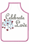 "Wine Apron ""Celebrate Love"""