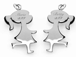 2 Piece Stainless Steel Best  Friends Necklace