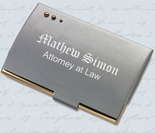 3 Dot Silver & Gold Business Card Holder