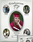 5 Picture Graduation Frame