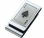 Ace of Spades Money Clip, Credit Card Holder