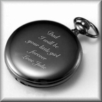 Antique Black Gunmetal Analog Quartz Pocket Watch