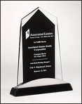 Apex Series Black Glass Award Trophy