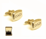Beveled Edge Gold Cufflinks