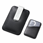 Black Leather Money Clip and Credit Card Holder