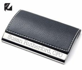 Black Magnetic Business Card Holder