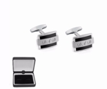 Black Modern Stainless Steel Cufflinks