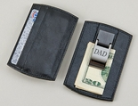 Black Money Clip Card Holder
