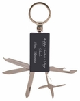 Black Rectangular 5-Tool Key Chain