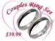 Black & Silver Stainless Steel Ring Set