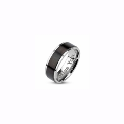 Black Stripe Stainless Steel Ring