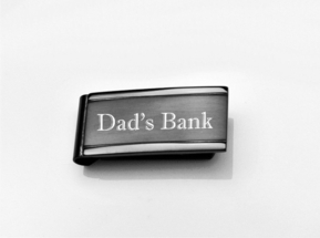 Black Two Tone Stainless Steel Money Clip