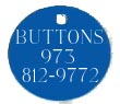 Blue Aluminum Circle Pet Tag