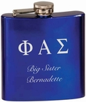 Blue Stainless Steel Flask