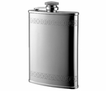 Brushed Gothic Stainless Steel Flask 8 oz
