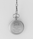 Brushed Silver Old Fashioned Pocket Watch
