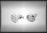 Brushed Stainless Steel Cufflinks