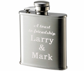Brushed Stainless Steel Flask