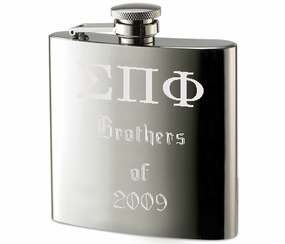Brushed Stainless Steel Flask 6 oz